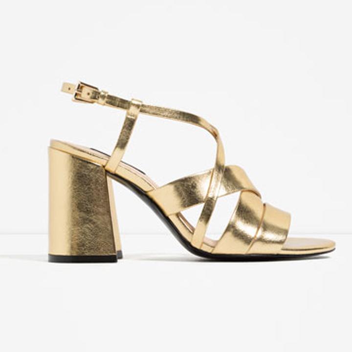 De Sandalias Zapatos Zara Zara sandalias Dorados Doradas Zara; 08PkOnwX